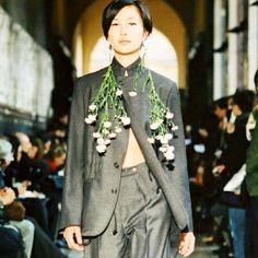 Flower Earrings #flowerparka #fw2002 #Lutz #lutzhuelle more on #lutzarchiveswordpress