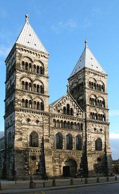 Lund Cathedral. Built in 1103 in Lund, Sweden.