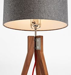Folk is a design and manufacturing company that builds and sells handmade furniture, light fixtures, and goods like bottle openers and cutting boards. Tripod Table, Lamp, Linen Shades, Tripod Lamp, Steel Detail, Floor Lamp, Table Lamp Wood, Diy Lamp, Tripod Table Lamp