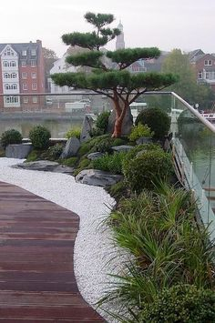 Japanese garden on roof terrace, dreamlike living in a penthouse with Japanga . japanischer Garten auf Dachterrasse, traumhaftes Wohnen im Penthouse mit Japanga… Japanese garden on roof terrace, dreamlike living in the penthouse with Japanese garden