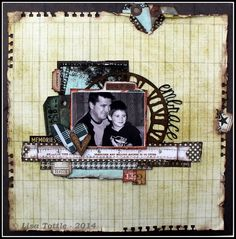 Gorgeous layout by Lisa Tottle.  Distressed and grungey - love it!