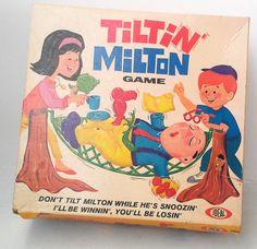 Vintage 1960's Tiltin' Milton Game - Ideal, stacking game, children's game