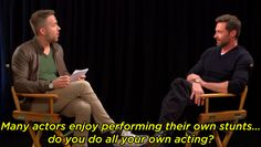 Ryan Reynolds Interviewed Hugh Jackman And Hit Him With All The Hard Questions