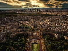 Paris from the Eiffel Tower.