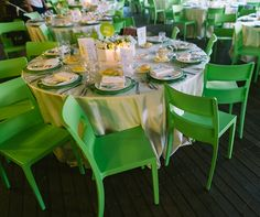 lime green, love the chairs!