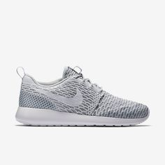 d1aa563d65047 Nike Flyknit Roshe in Pure Platinum White Cool Grey