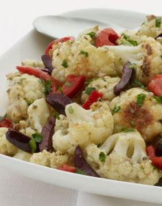 olives roasted cauliflower with slices and kalamata olives cauliflower ...