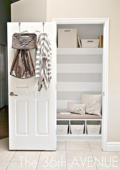 Reading Nook / DIY Closet Transformation to Reading Nook for Kids - CotCozy