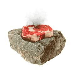 cooking on a hot rock