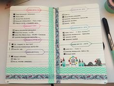how to use washi tape in bullet journal - Google Search