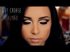▶ Maquiagem Cut Crease - Salmão - YouTube