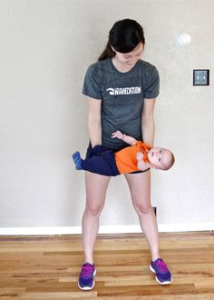 I still do these and my little one is now 3. As your baby gets bigger, you get stronger. Ditch the weights, lift your kids! POST-BABY WORKOUT: WORKOUT WITH YOUR BABY!