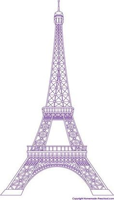 Eiffelturm zum Ausmalen | coloring 2 | Pinterest ...