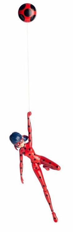 Bandai Miraculous 7.5 inch Action Doll Jump and Fly Ladybug Toy #Bandai