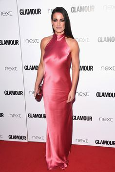 Kirsty Gallacher Photos Photos - Kirsty Gallacher attends the Glamour Women of The Year awards 2017 at Berkeley Square Gardens on June 2017 in London, England. - Glamour Women of the Year Awards 2017 - Red Carpet Arrivals Silk Satin Dress, Silky Dress, Satin Dresses, Fabulous Dresses, Beautiful Gowns, Nice Dresses, Silk Evening Gown, Evening Dresses, Kirsty Gallacher