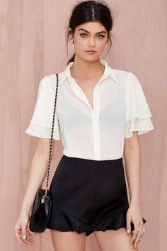 #nastygal Sweet Jane Sheer Blouse - Shirts + Blouses
