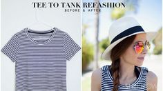 Make any tee into a summer tank with this cute and easy DIY