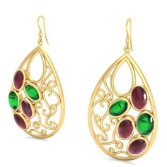 #Buy #classy #collection of gold #emerald and #ruby #stud #earrings for #women, #girls, #ladies, #wife, #sister, bhabhi and for your #true #love; Shop It Today.