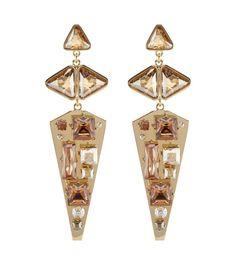 smoke and mirrors chandelier earring - crystal drop earrings - designer drop earrings $158