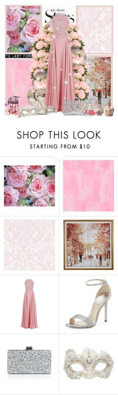 """""""Glitter & Pearls"""" by chrissyglam20 ❤ liked on Polyvore featuring WALL, Designers Guild, René Caovilla, Edie Parker, Rascal, Karl Lagerfeld, Swarovski and Juicy Couture"""