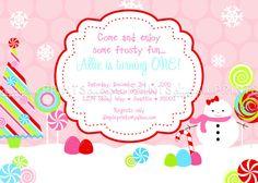 Snowman Winter Wonderland ONEderland Invite by Dimpleprints, $10.00