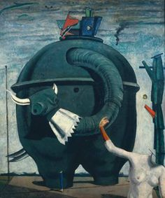 "This surrealist painting by Max Ernst is considered amazing, incredible blah, blah, blah because it's by Max Ernst and because it's ""amazing, incredible..."" so I guess we should all now sit in a circle and stay awed at the screen for another 30 min. before looking at anything else, no blinking allowed."