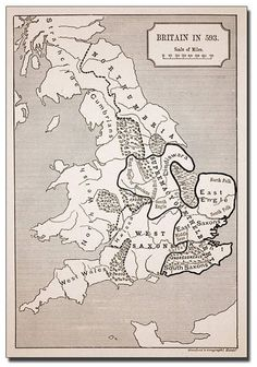 Trademark Global 'Map of Britain in Canvas Art - 14 x 19 World History Map, Uk History, British History, Artist Canvas, Canvas Art, Map Of Great Britain, Celtic Nations, Global Map, Map Projects