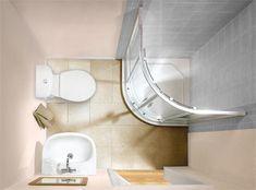 tiny en suite - downstairs bath turn sink onto door wall?
