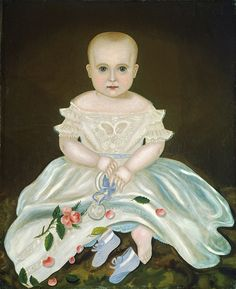 """INNOCENCE / Artist unidentified, United States, c. 1830, oil on canvas, 27 1/8 x 22 1/4"""", collection National Gallery of Art, Washington, gift of Edgar William and Bernice Chrysler Garbisch, 1980.62.30.  Photo courtesy National Gallery of Art, Washington"""