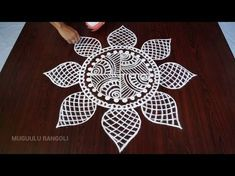 muggulu designs without dots || free hand rangoli designs || muggulu designs || kolam designs - YouTube Rangoli Designs Latest, Rangoli Border Designs, Rangoli Designs Diwali, Rangoli Designs Images, Kolam Rangoli, Beautiful Rangoli Designs, Indian Rangoli, Padi Kolam, Henna Designs