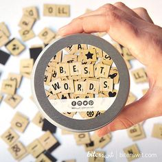 SCRABBLE MAGNET - Original gift, magnet letters game, alphabet magnet, magnetized children's game, educational game, modern kitchen decor