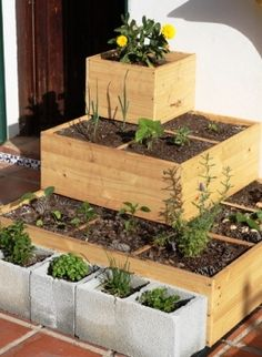 Square Foot Gardening, this is ideal for roof top garden. - Would also be a great way to make a spice garden…