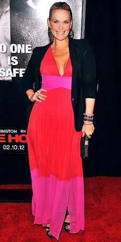 Great Color block by Molly Sims in BCBG Max Azria May InStyle -- could do w/out the black jacket IHO