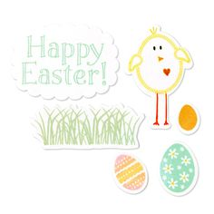 Sizzix - Framelits Die and Clear Acrylic Stamp Set - Easter at Scrapbook.com