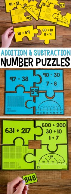 Number Puzzles help students match various models and representations of the addition problems , subtraction problems, and other numbers show. These puzzles are a great math station or math center and give students hands-on experience with sorting, classifying and categorizing second grade math concepts.