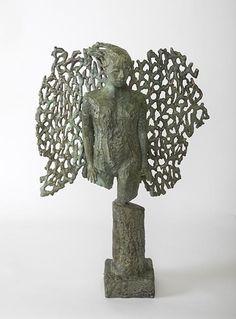 Catherine Greene Bronze Sculpture of an Angel Bronze Sculpture, Lion Sculpture, Angel, Statue, Contemporary, Christmas, Art, Xmas, Art Background