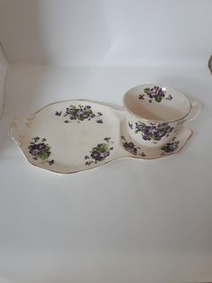 Tea Cup and Snack Plate Set Plate Sets, Tea Cups, Plates, Snacks, Tableware, Unique Jewelry, Handmade Gifts, Etsy, Vintage