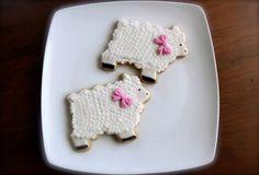 Sheep Cookies  (1 dozen) on Etsy, $42.00