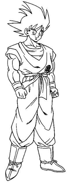 Dibujos de Dragon Ball z para Imprimir y Colorear  ewgfverd