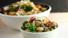 Orecchiette with Broccoli Rabe and Burst Tomatoes is the perfect week night meal.