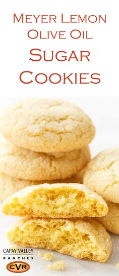 Meyer Lemon Olive Oil Sugar Cookie recipe by Capay Valley Ranches ...