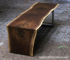 live edge dining tables and slab hardwood tops in walnut, sapele mahogany, cherry and ash Wood Slab Table, Wood Table Design, Walnut Dining Table, Solid Wood Table, Wooden Dining Tables, Live Edge Tisch, Live Edge Table, Walnut Furniture, Hardwood Furniture