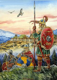 Alamannic Warriors and Hillfort, 5th century AD