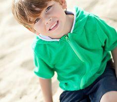 """Dino Boy"" - Boy Beach Swimsuit Cover Up with SPF UV Protection | SwimZip Rash Guard Swimwear"