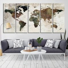 """Preview images are approximated based on maximum print size & to surroundings. Recommended space when hanging your canvas split is 1"""" between each panel.  Rescue your blank walls with beautiful Gallery Wrapped Canvas Prints. Photo to Canvas prints are the newest trend for turning any image into amazing wall art. Hang them on a wall in your home or office for Interior decor."""
