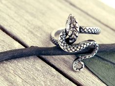 snake ring silver ring snake jewelry gothic jewelry by CarmelaRosa