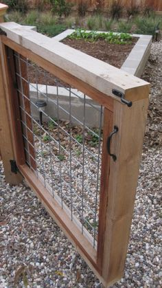 17 DIY Garden Fence Ideas to Keep Your Plants Urban Veggie Garden - contemporary - landscape - houston Diy Garden Fence, Backyard Fences, Garden Landscaping, Garden Gates And Fencing, Fence Gates, Big Garden, Herb Garden, Garden Plants, Outdoor Projects