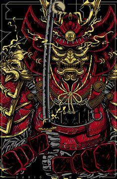 Japanese Art Modern, Japanese Drawings, Japanese Artwork, Japanese Tattoo Art, Japanese Tattoo Designs, Arte Ninja, Ninja Art, Japanese Art Samurai, Samourai Tattoo