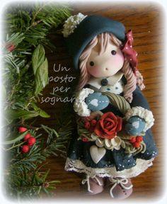 Un posto per sognare...bambole, fate e folletti: bambola natalizia