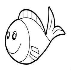 Fish Craft Template  Rainbow Fish Black And White Template